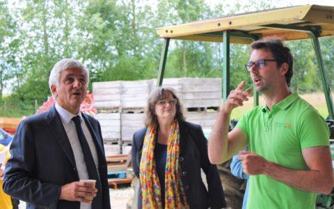 Visite de Hervé Morin le président de la région Normandie.